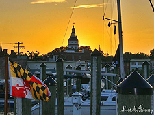 Picture of a sunset over Annapolis. Photo provided by Matthew McKinney