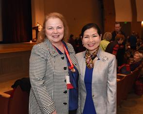 Theresa  Colvin and Yumi Hogan