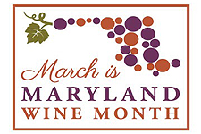 March is Maryland Wine Month logo.