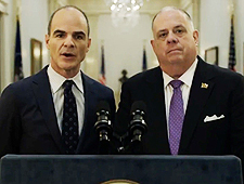 """Governor Larry Hogan and """"House of Cards"""" Actor Michael Kelly"""