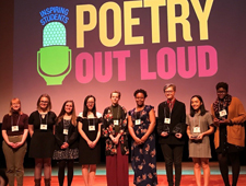 Picture of students that competed in the Poetry Out Loud competition.