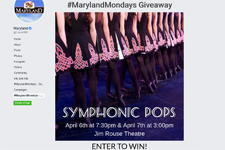 Maryland Mondays Giveaway image from Facebook