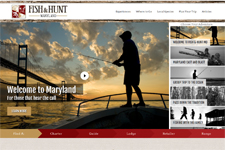 Fish & Hunt Maryland Website homepage picture