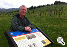 John Feiseler standing at a Civil War Trails Marker