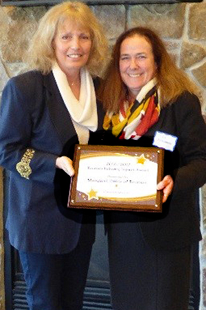 Pictured (Left to right): Sandy Turner, tourism coordinator, Cecil County Tourism; and Liz Fitzsimmons, managing director, TFA
