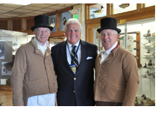 Pictured: Mike Miller, Havre de Grace Mayor Wayne Dougherty and County Executive David Craig at Decoy Museum before evening ceremony.