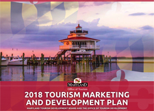 2018 Tourism Marketing and Development Plan cover with a light house and red bottom