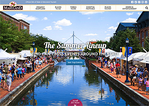 VisitMaryland, Official Tourism website of Maryland Homepage.