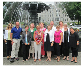 Rich Gilbert, travel trade sales manager , Maryland Office of Tourism, recently led 10 industry partners on a Maryland on the Road Enterprise (MORE) sales blitz of Canada.