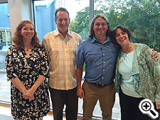 Pictured: (Left to right) Goucher College consultants Shannon Smith, Barry Dornfeld, Rob Forloney, and Amy Skillman.
