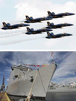 Navy Blue Angels and Grey Hulls