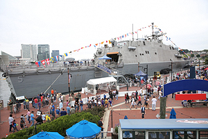 USS Milwaukee docked in Baltimore.