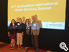 Marci Ross, Assistant Director of Tourism Development, OTD; and Casey Keyfauver, Customer Contact Programs Manager, OTD, joined a Maryland delegation to the Destinations International Visitor Services summit in Columbus, OH, September 24-26. Maryland attendees included Cindy Yount, Visitor Center Manager, Visit Frederick, and John Fiesler, Executive Director