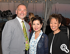 Pictured: (Left to right) Ken Skrzesz, Executive Director, MSAC; First Lady Yumi Hogan; and Jane Chu, Chairman, National Endowment of the Arts.