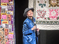 Documentary story quilter Joan Gaither. Photo by Edwin Remsberg Photographs.