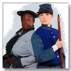 Two female Civil War Re-enactors