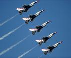USAF Thunderbirds performing