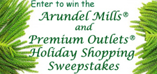Enter to win the Arundel Mills and Premium Outlets Holiday Shopping Sweepstakes.