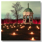 Memorial Illumination at Antietam National Battlefield