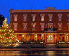 Main Street in Maryland during the holidays