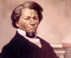Portrait of Frederick Douglass.