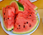 Plate of watermelon