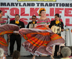 Dancers performing during the Maryland Traditions Folklife Festival