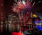 Fireworks display in Baltimore