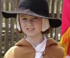 Colonial child re-enactor