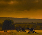 Canons in a field at Antietam National Battlefield