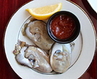 Platter of oysters on the half-shell