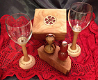 Wine glasses and set hand crafted by 5 Year Wood in Cumberland