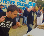 Contestants at the National Oyster Shucking contest