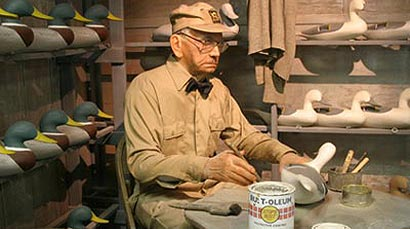 Picture of a decoy carver.