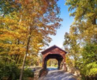 Fall Foilage with a covered bridge