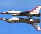 USAF Thunderbirds flying inverted