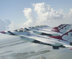 U.S. Air Force Thunderbirds in formation