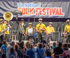 Band performing during the Folk Festival