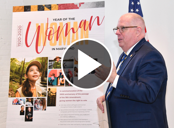 Governor Hogan Proclaims 2020 as the Year Of The Woman on December 11, 2019 in Annapolis